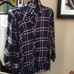 Michael Stars Plaid Boyfriend shirt